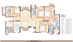 Tower D Type -D2(4BHK+FAMILY/STUDY+W)