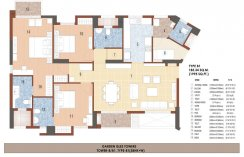 Tower B/B1 Type -B1(3BHK+W)