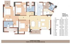 Tower A/A1/A2 Type -A2(3BHK+2TOI+W)