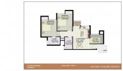 2BHK-Unit-Plan_850 Sq.Ft Type-1