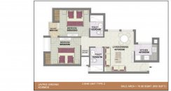 2BHK-unit-plan_850 Sq.Ft Type-2
