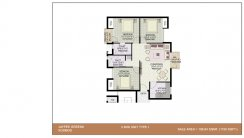 3-BHK-Unit-Plan_1150 Sq.Ft. Type-1