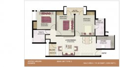 3-BHK-Unit-Plan_1200 Sq.Ft.Type-2