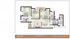 3BHK+Worker_1280 Sq.Ft.Type-3