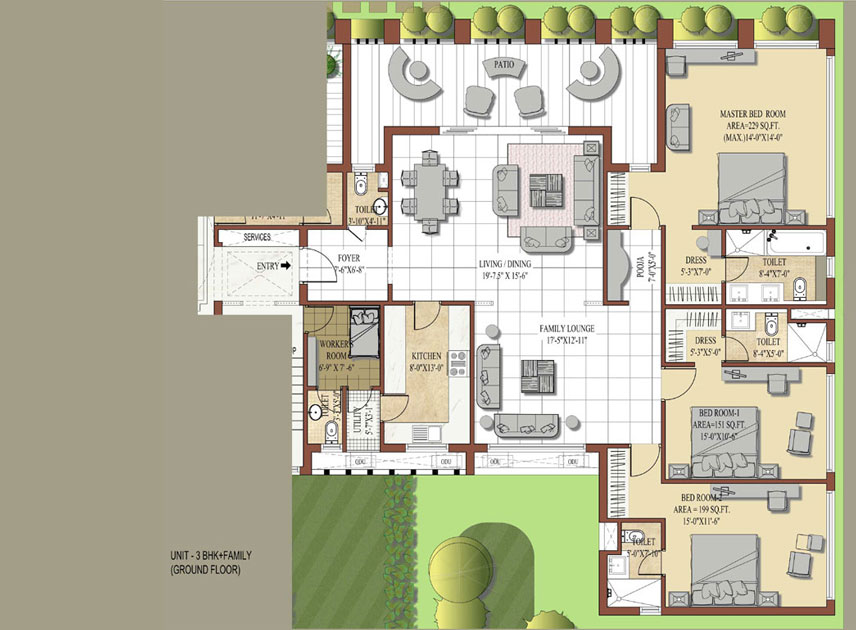 Jaypee knights court residential property for 2bh house plans