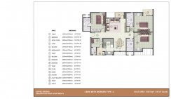 3 BHK with worker room_1525 Sq. ft Type-2