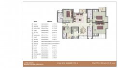 3 BHK with worker room_1550 Sq. ft.Type-3