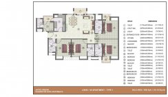 4 BHK with worker room_1950 Sq. ft. Type-1