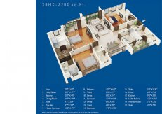 3 BHK-2200 sq.ft