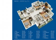 4 BHK-3000 sq.ft