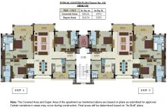 Cluster Plan - Tower No. 15 - 3BHK