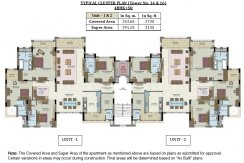 Cluster Plan - Tower No. 14 & 16 - 4BHK
