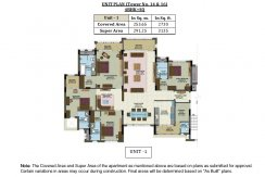 Unit Plan- Tower No.14 &16 - 4BHK