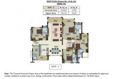 Unit Plan-Tower No.14 &16 - 3 BHK