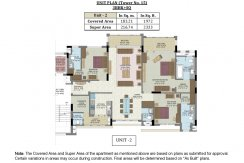Unit Plan-Tower No.15 - 3 BHK