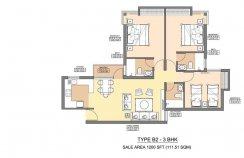 Aman 1 - 1200 - SQ.FT - 3 Bedroom