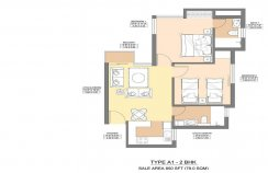 Aman 1 - 850 - SQ.FT - 2 Bedroom